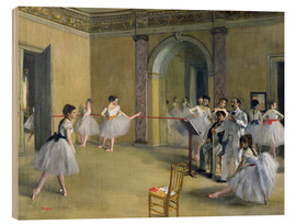 Hout print  The Dance Foyer at the Opera on the rue Le Peletier - Edgar Degas