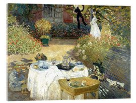 Acrylglas print  De lunch (in de tuin van Monet in Argenteuil) - Claude Monet