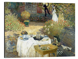 Aluminium print  De lunch (in de tuin van Monet in Argenteuil) - Claude Monet