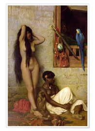 Premium poster  The slave for sale - Jean Leon Gerome