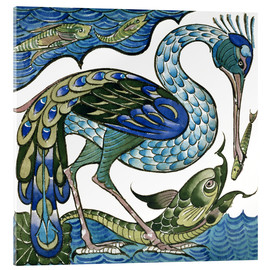 Acrylglas print  Heron and Fish - Walter Crane