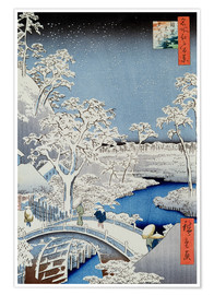 Premium poster  Winter Landscape - Japanese School