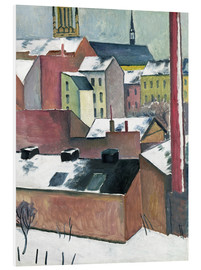 PVC print  The Church of St Mary in Bonn in Snow - August Macke
