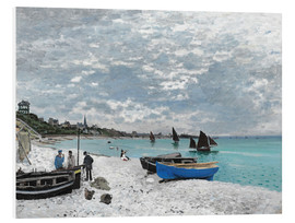 PVC print  The Beach at Sainte-Adresse - Claude Monet