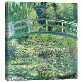 Canvas print  De Japanse brug en de waterlelies - Claude Monet