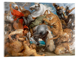 Acrylglas print  The Tiger Hunt - Peter Paul Rubens
