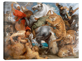 Canvas print  The Tiger Hunt - Peter Paul Rubens