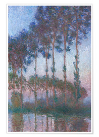 Premium poster Poplars on the Banks of the Epte
