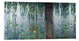 Acrylglas print  Waterlilies: Morning with Weeping Willows (detail) - Claude Monet