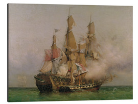 Aluminium print  The Taking of the 'Kent' by Robert Surcouf - Ambroise Louis Garneray