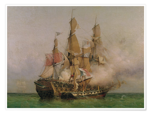 Premium poster The Taking of the 'Kent' by Robert Surcouf