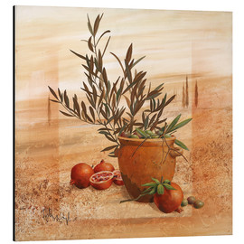 Aluminium print  Pomegranate and olive harvest - Franz Heigl