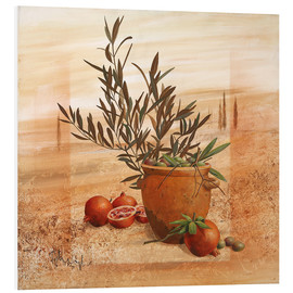 PVC print  Pomegranate and olive harvest - Franz Heigl