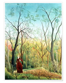 Premium poster  The walk in the forest - Henri Rousseau