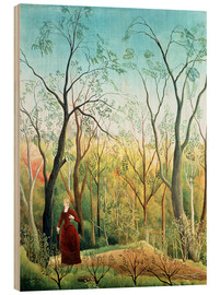 Hout print  The Walk in the Forest - Henri Rousseau