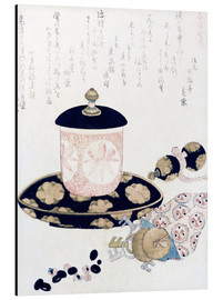 Aluminium print  A Pot of Tea and Keys - Katsushika Hokusai
