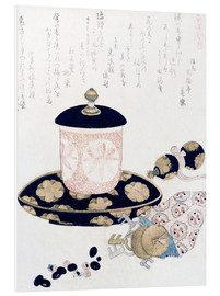 PVC print  A Pot of Tea and Keys - Katsushika Hokusai
