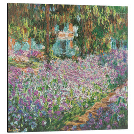 Aluminium print  The Artist's Garden at Giverny - Claude Monet