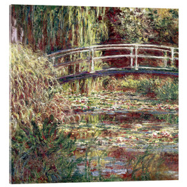 Acrylglas print  Waterlily Pond: Pink Harmony - Claude Monet
