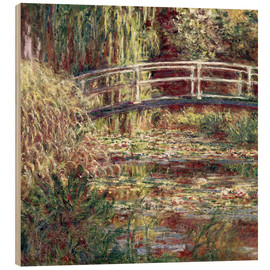 Hout print  Waterlily Pond: Pink Harmony - Claude Monet