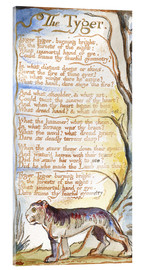 Acrylglas print  The Tyger - William Blake
