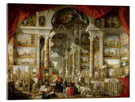 Acrylglas print  Gallery with pictures of Modern Rome - Giovanni Paolo Pannini