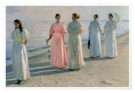 Premium poster  Ladies on the beach - Michael Peter Ancher
