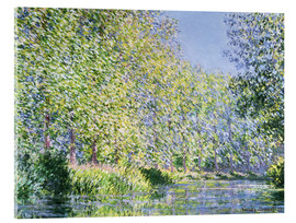 Acrylglas print  Bend in the River Epte - Claude Monet