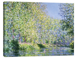 Canvas print  Bend in the River Epte - Claude Monet