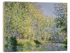 Hout print  Bend in the River Epte - Claude Monet