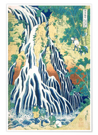 Premium poster  The Kirifuri Waterfall at Mt. Kurokami - Katsushika Hokusai
