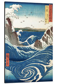 Aluminium print  View of the Naruto whirlpools, Awa - Utagawa Hiroshige