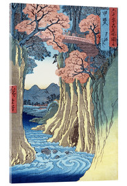 Acrylglas print  The monkey bridge in the Kai province - Utagawa Hiroshige