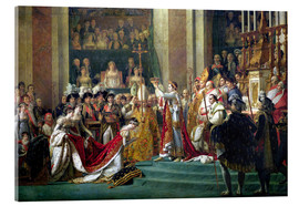 Acrylglas print  The Consecration of the Emperor Napoleon - Jacques-Louis David