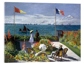 Acrylglas print  Garden at Sainte-Adresse - Claude Monet