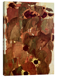Canvas print  Sunflowers II - Egon Schiele