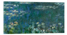 Acrylglas print  Waterlilies, Green Reflections - Claude Monet