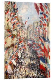 Acrylglas print  Rue Montorgueil, celebrations June 30 - Claude Monet