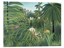 PVC print  Jaguar Attacking a Horse - Henri Rousseau