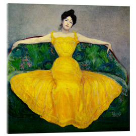 Acrylglas print  Lady in yellow dress - Maximilian Kurzweil