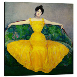 Aluminium print  Lady in yellow dress - Maximilian Kurzweil