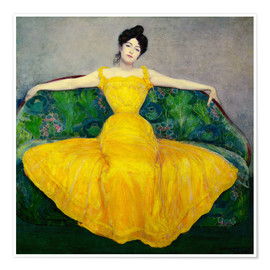 Premium poster  Lady in yellow dress - Maximilian Kurzweil