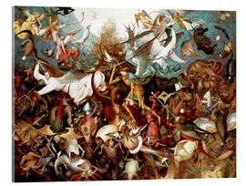 Acrylglas print  The Fall of the Rebel Angels - Pieter Brueghel d.Ä.