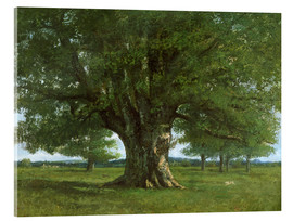 Acrylglas print  The Oak of Flagey - Gustave Courbet