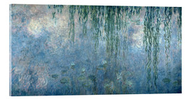 Acrylglas print  Waterlilies: Morning with Weeping Willows - Claude Monet