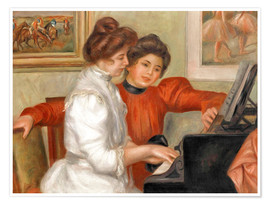 Premium poster  Yvonne and Christine Lerolle at the piano - Pierre-Auguste Renoir