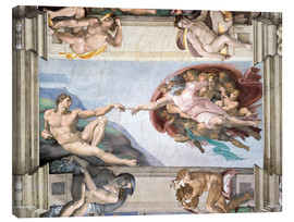 Canvas print  Sistine Chapel: The Creation of Adam - Michelangelo