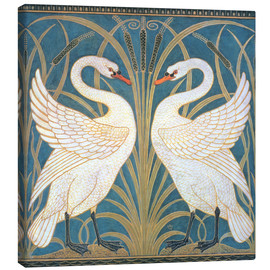 Canvas print  Swan, Rush and Iris - Walter Crane