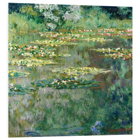 PVC print  The waterlily pond - Claude Monet