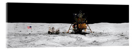 Acrylglas print  Apollo 16 lands in the lunar highlands